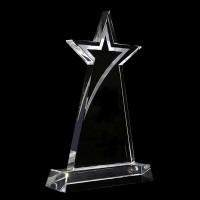 星星水晶獎座 tk04