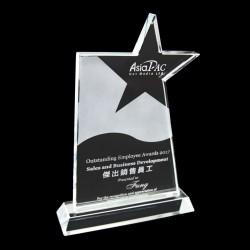 五角星水晶獎座 tk05